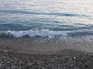 Šljunćana plaža u suton
